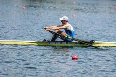 Словенский спортсмен на rowing конкуренции чашки мира гребя Стоковые Изображения RF