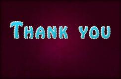 Слово благодарит вас Стоковые Фотографии RF
