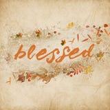 Слово благословленное с листьями осени Стоковые Изображения RF