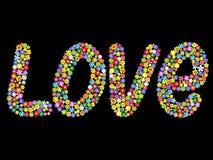 слово вектора влюбленности Стоковые Изображения RF