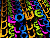 слово влюбленности иллюстрации 3d Стоковые Изображения