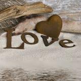 слово влюбленности сердца Стоковые Фото