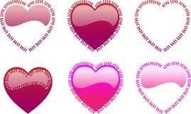слово влюбленности сердца Стоковое Изображение
