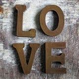 слово влюбленности Стоковая Фотография