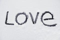 слово влюбленности Стоковые Фотографии RF