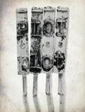 Слово ГРАФИК с старыми молотками машинки Стоковые Изображения