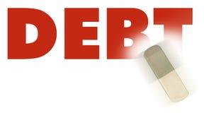слово задолженности Стоковые Изображения RF