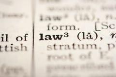 слово закона Стоковое Изображение RF