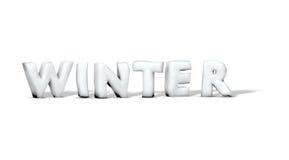 слово зимы снежка иллюстрация вектора
