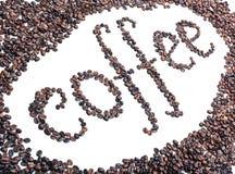 слово кофе фасолей Стоковая Фотография