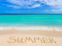 слово лета пляжа Стоковое Фото