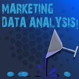 Слово писать анализ данных текста выходя на рынок Всмотренная концепция дела для собирать данные, и сделать вино коктейля заключе стоковое изображение