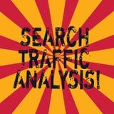 Слово писать анализ трафика поиска текста Концепция дела для ширины полосы частот сети контролируя Sunburst программного обеспече стоковое изображение