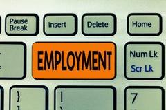 Слово писать занятость текста Концепция дела для государства оплачивать использование занятия работы что-то стоковые фото