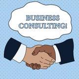 Слово писать консультации по бизнесу текста Концепция дела для практики смесей академичного теоретического встряхивания руки эксп иллюстрация вектора