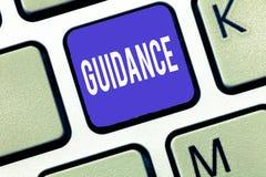 Слово писать наведение текста Концепция дела для совета или информации направленных на разрешая проблему или затруднение стоковое фото