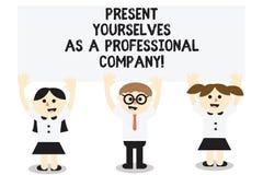 Слово писать настоящий момент себя текста как профессиональная компания Концепция дела для официального введения себя бесплатная иллюстрация