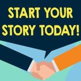 Слово писать началу текста ваш рассказ сегодня Концепция дела для работы крепко на себе и начать от этого момента как раз 2 иллюстрация вектора