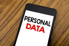 Слово, писать почерку личные данные Концепция дела для предохранения от цифров написанного на мобильном телефоне мобильного телеф Стоковые Изображения