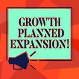 Слово писать расширение текста запланированное ростом Концепция дела для подвергать дело действию более широкого мегафона клиенто бесплатная иллюстрация