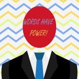 Слово писать слова текста имеет силу Концепция дела для по мере того как они имеют способность помочь излечить повреждение или по иллюстрация штока