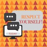 Слово писать уважение себя текста Концепция дела для считать, что вы хорош и достойный быть обработанным хорошо пробелом бесплатная иллюстрация