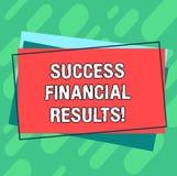 Слово писать финансовые результаты успеха текста Концепция дела для количества выгоды компания делает во время кучи периода пробе бесплатная иллюстрация