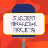Слово писать финансовые результаты успеха текста Концепция дела для количества выгоды компания делает во время пробела периода иллюстрация вектора