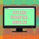 Слово писать финансовые результаты успеха текста Концепция дела для количества выгоды компания делает во время компьютера пробела бесплатная иллюстрация