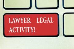 Слово писать юристу текста законную деятельность Концепция дела для подготовить случаи и дать совет на законной подчиненной клави стоковые изображения rf