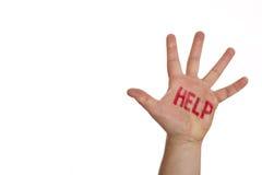 слово помощи руки Стоковые Изображения RF