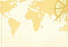 слово сбора винограда карты Стоковая Фотография RF