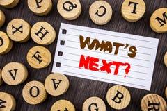 Слово, сочинительство, текст что следующий вопрос Наведение цели прогресса зрения плана на будущее схематического фото следующее  стоковое изображение rf