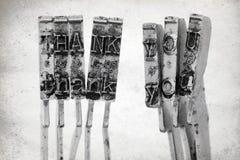 Слово спасибо с старой машинкой Стоковые Фото