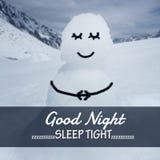 Слово спокойной ночи Стоковые Изображения