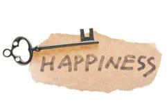 слово счастья ключевое старое Стоковое фото RF