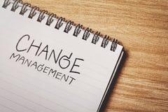 Слово управления изменения стоковая фотография