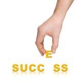 слово успеха руки принципиальной схемы дела Стоковое Фото