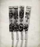 Слово ФАКТ с старыми молотками машинки Стоковое Фото