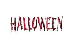 Слово хеллоуина крови Элемент дизайна хеллоуина вектора иллюстрация вектора