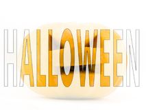 Слово хеллоуина Стоковая Фотография