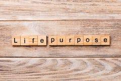 Слово цели жизни написанное на деревянном блоке текст цели жизни на деревянном столе для ваш desing, концепции стоковое фото rf