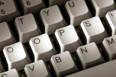 слово экстренныйого выпуска oops клавиатуры компьютера Стоковые Фотографии RF