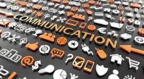 """слово """"связи """"с значками 3d стоковые изображения"""