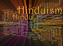 слово hinduism облака накаляя Стоковое Фото