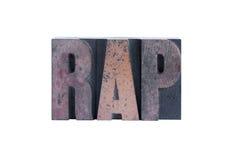 слово rap Стоковые Изображения RF