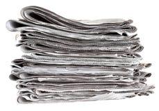 сложенная куча газет Стоковое фото RF
