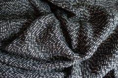 Сложенная одежда из твида соли и перца Стоковое Изображение