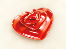сложенное сердце Стоковая Фотография