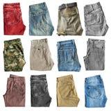 Сложенные изолированные брюки стоковые фотографии rf